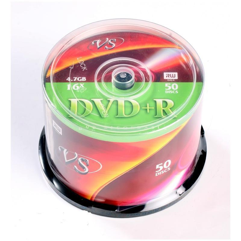Диск DVD+R VS 4.7 Gb 16x (50 штук в упаковке)