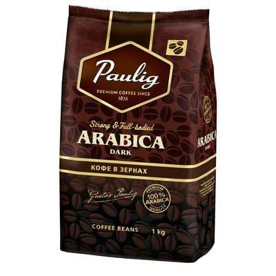 Кофе Paulig Arabica Dark Roast в зернах 1 кг.